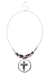 Faith Cross Tortoise Chain Necklace
