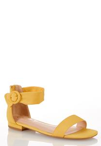 Golden Ankle Strap Sandals