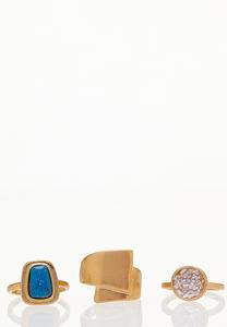 Statement Stone Ring Set