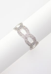 Rhinestone Clasp Bracelet