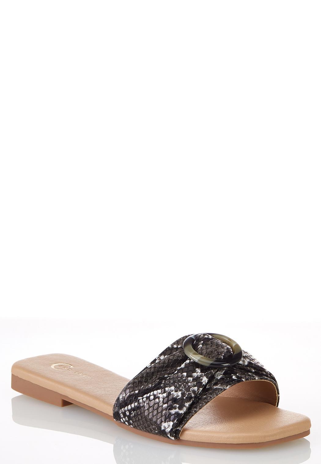 Tort Ring Snake Slide Sandals
