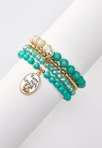 Faith Hope Love Bracelet Set