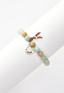 Faith Disc Charm Bracelet