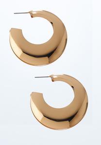 Metal Tapered Hoop Earrings