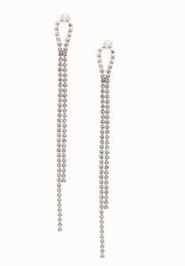 Delicate Rhinestone Linear Earrings