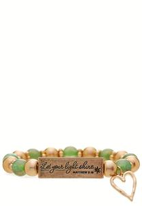 Matthew Scripture Stretch Bracelet