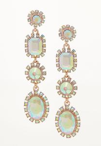 Antiqued Iridescent Linear Earrings