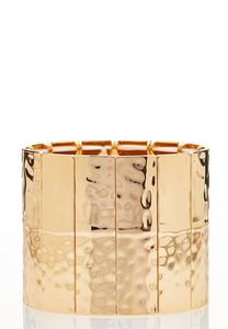 Gold Statement Stretch Bracelet