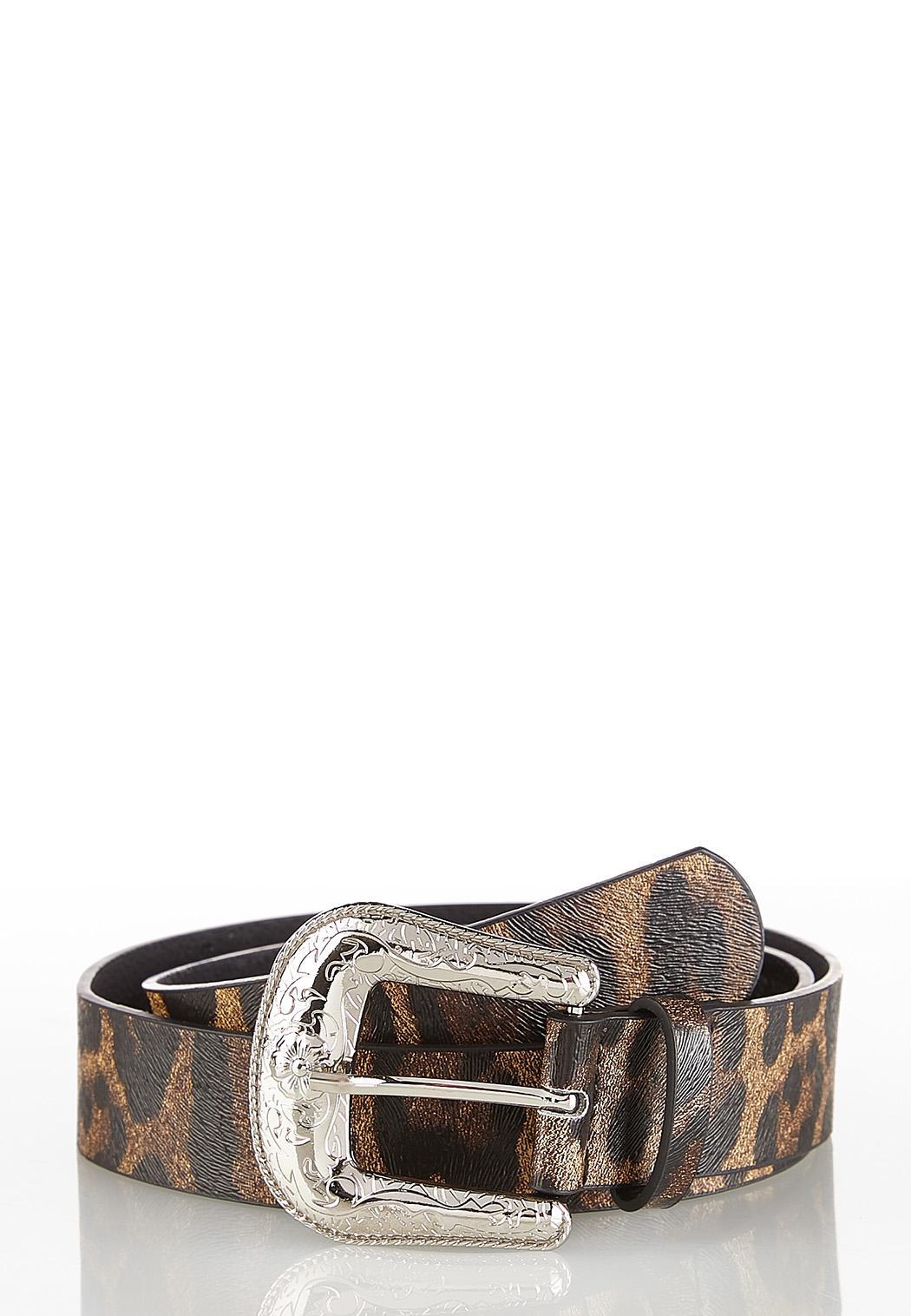 Leopard Western Buckle Belt