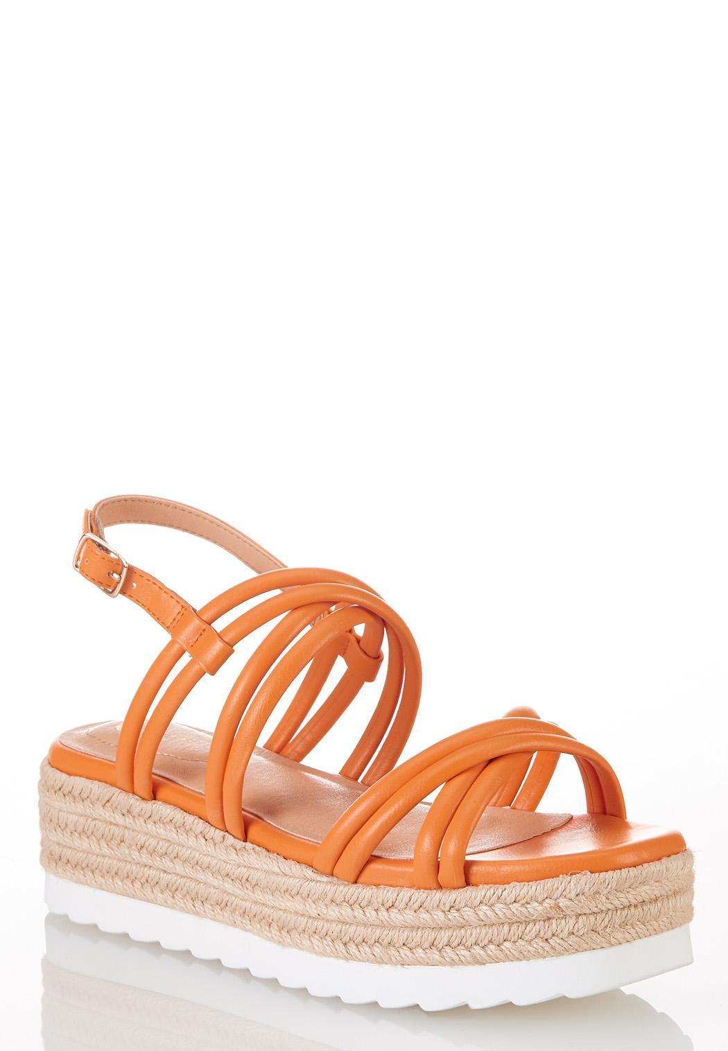 Orange Roped Flatform Sandals
