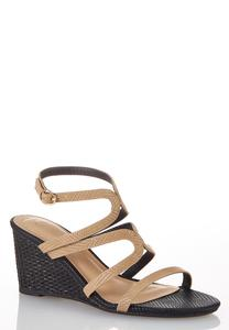 Wide Width Textured Two-Tone Wedges
