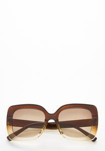 Ombre Lucite Square Sunglasses