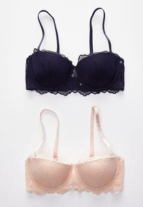 Plus Size Lace Convertible Bra Set