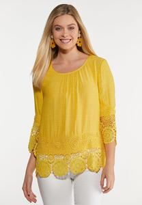 Sweet Citrus Crochet Top