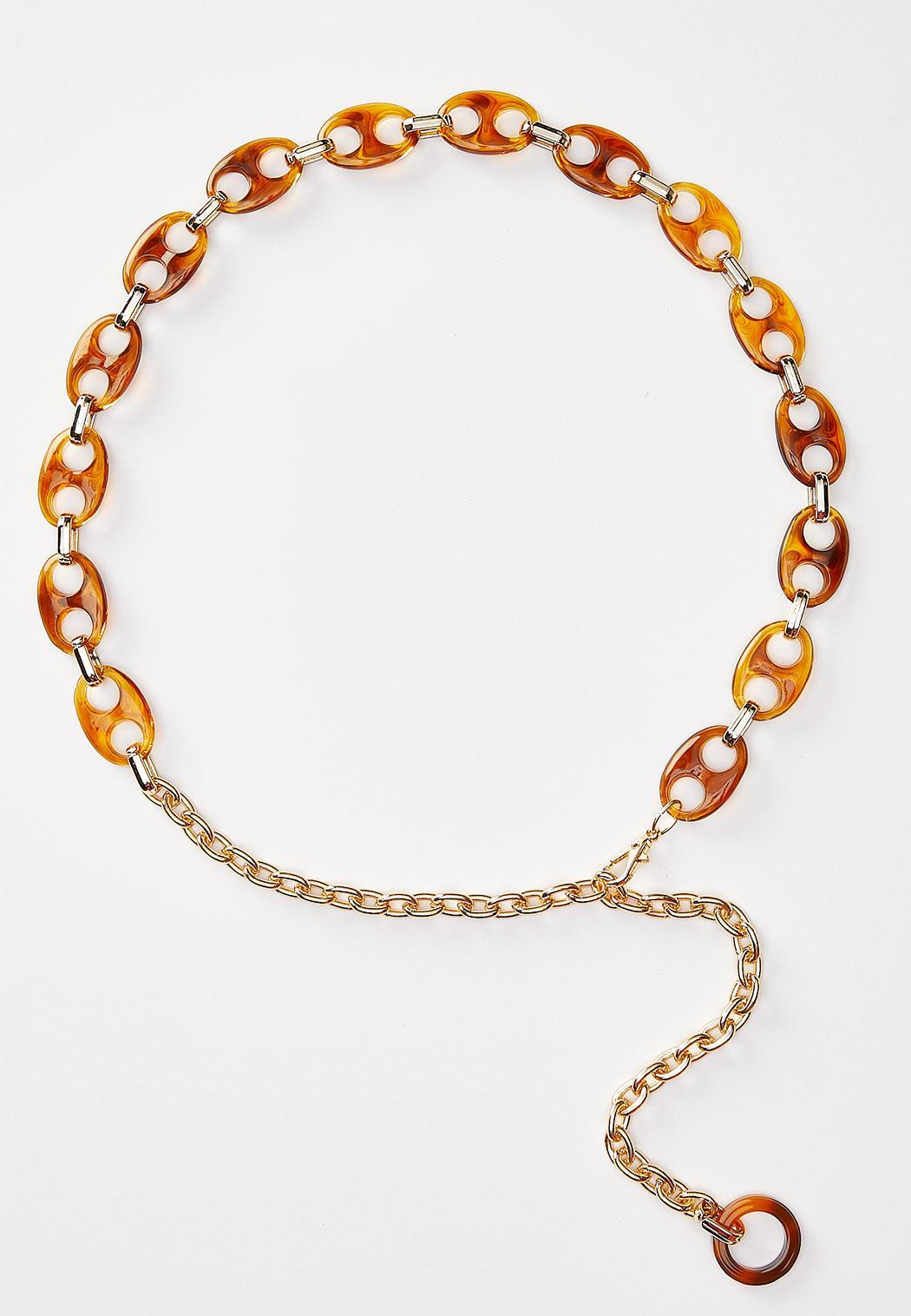 Tortoise Link Chain Belt