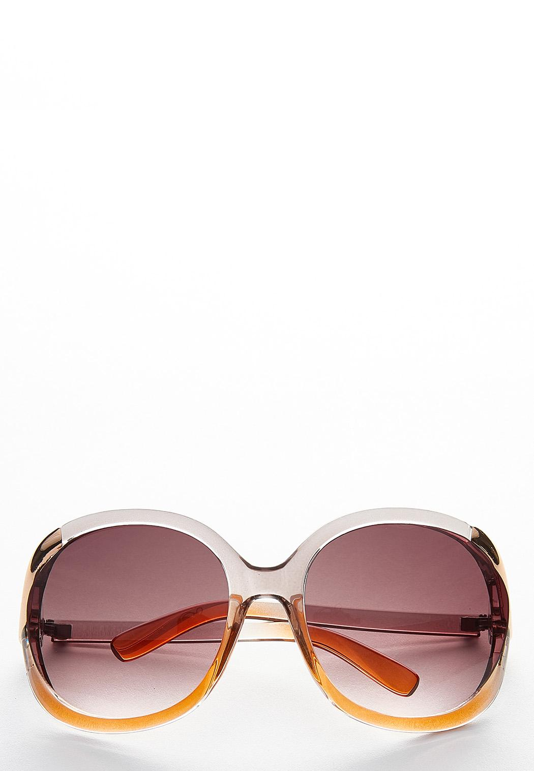 Lucite Vented Round Sunglasses