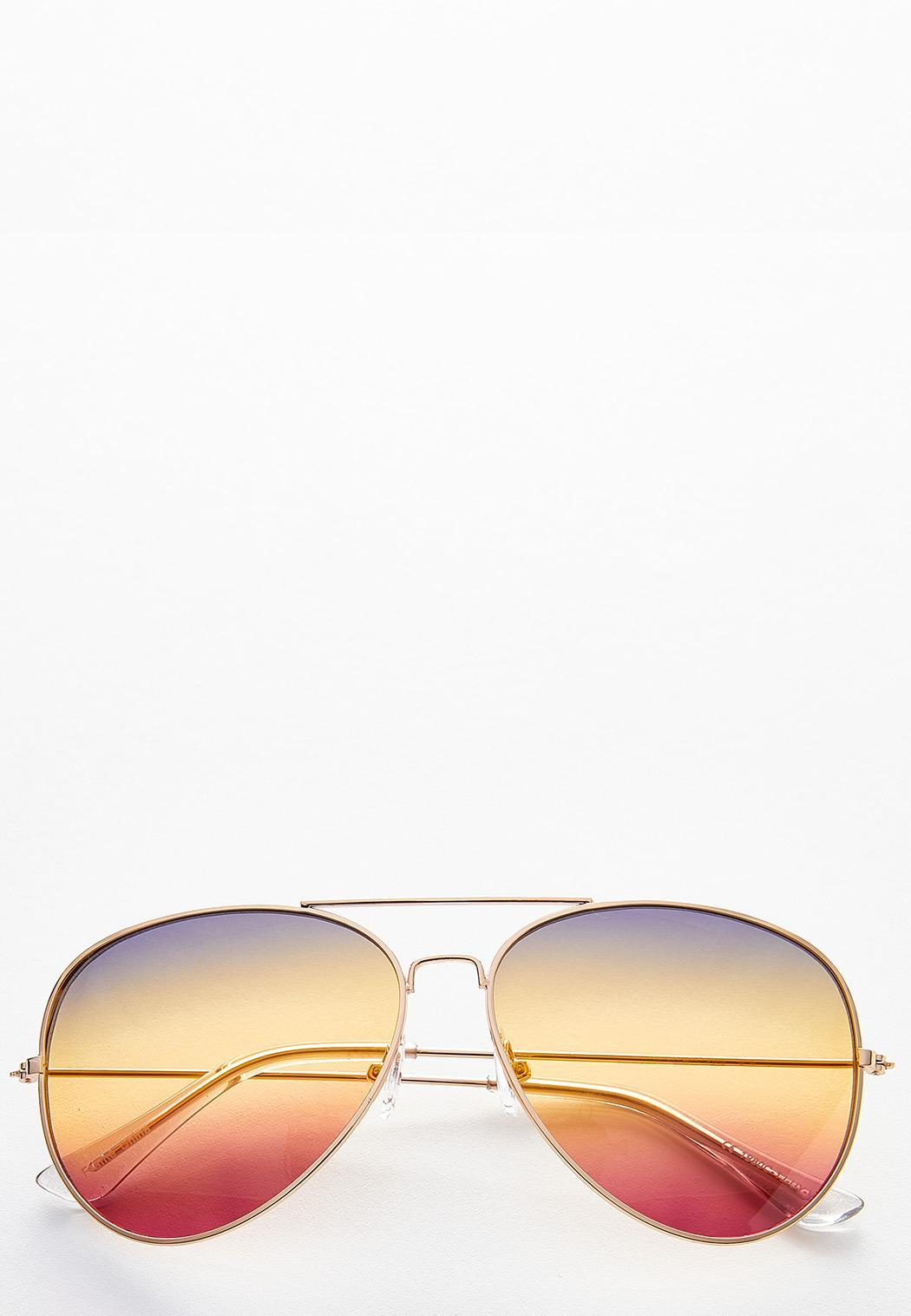 Ombre Aviator Sunglasses