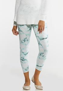 Marble Crop Leggings