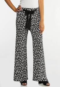 Bitty Floral Tie Waist Pants