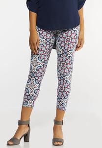 Cropped Kaleidoscope Leggings