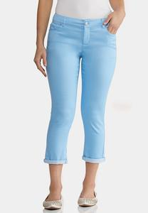 Color Cropped Skinny Jeans