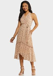 Flounce Polka Dot Dress