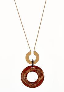 Oversized Multi Ring Pendant Necklace