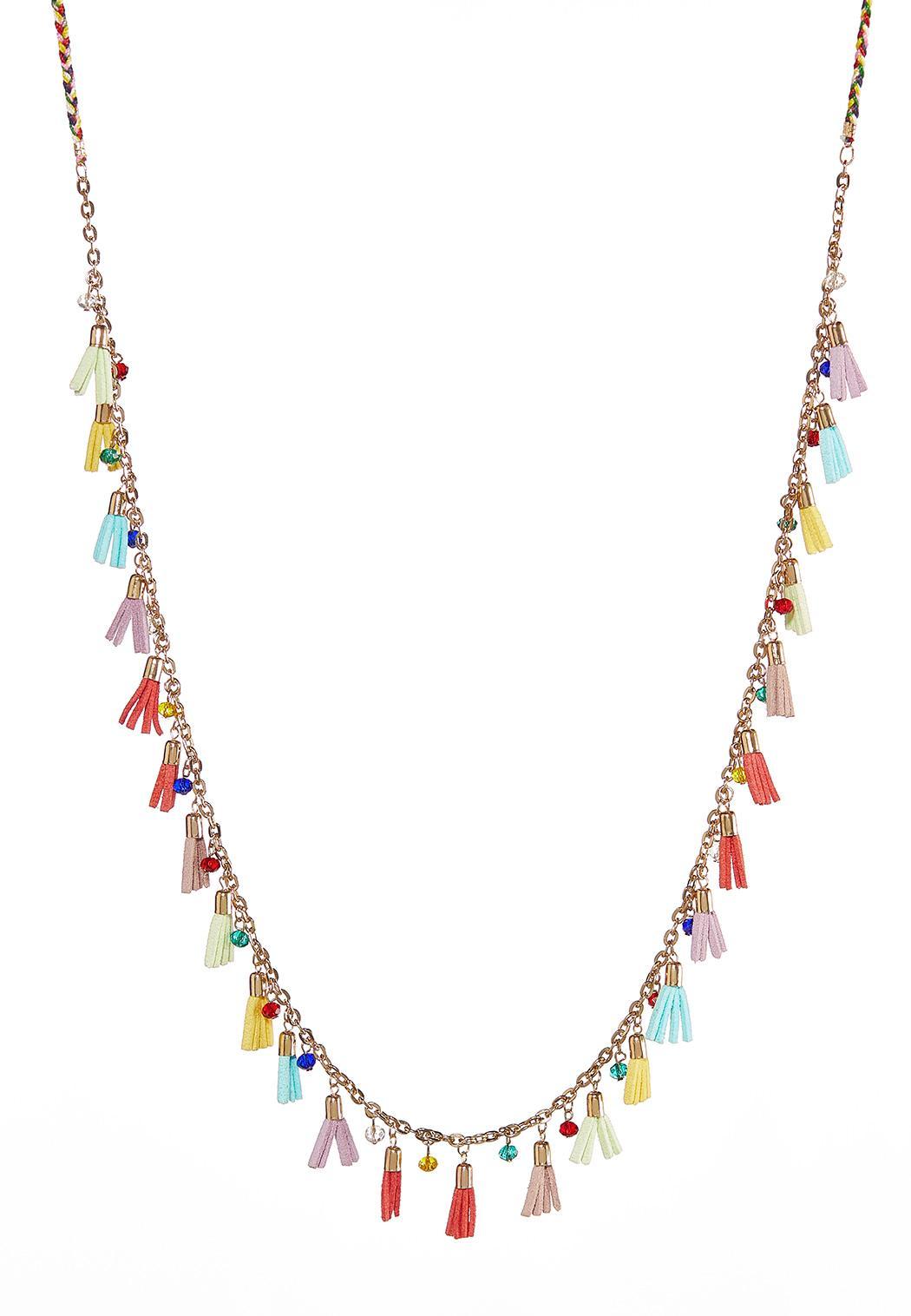 Fiesta Tassel Long Necklace