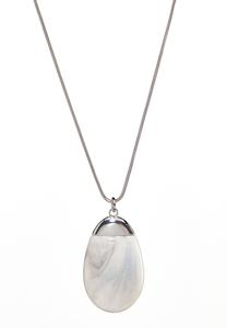Large Marbled Pendant Necklace
