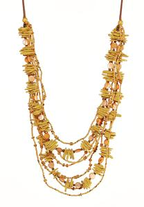 Layered Mixed Shell Necklace
