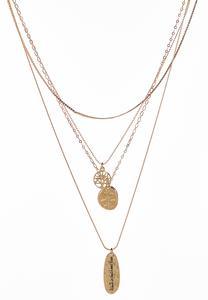 Layered Inspirational Pendant Necklace