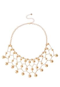 Netted Ball Bib Necklace