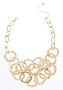 Gold Metal Link Necklace