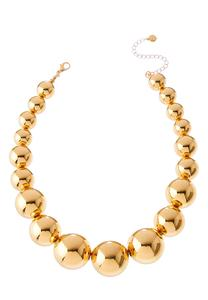 Gradient Gold Ball Necklace