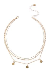 Delicate Disc Choker Necklace