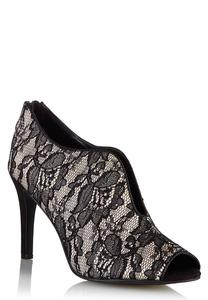 Wide Width Lace and Satin Shooties