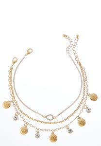 Dangling Disc Anklet Set