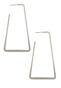 Mod Rectangle Hoop Earrings