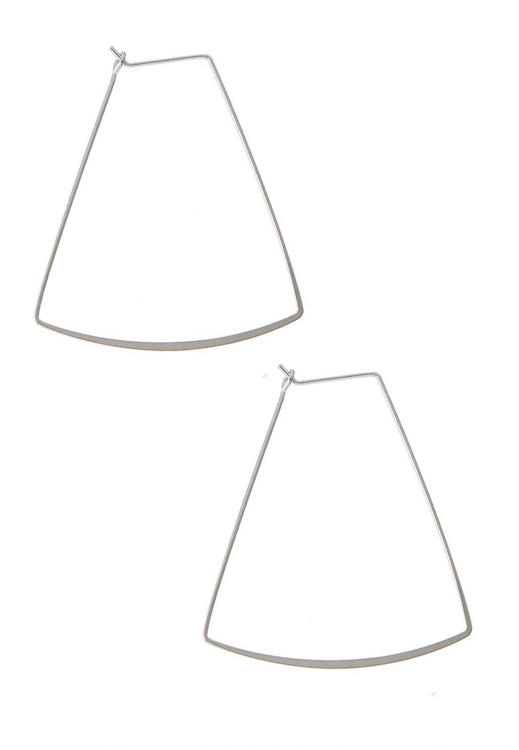 Delicate Geo Hoop Earrings