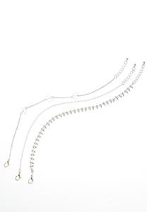 Triple Metal Anklet Set
