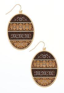 Wood Cutout Earrings
