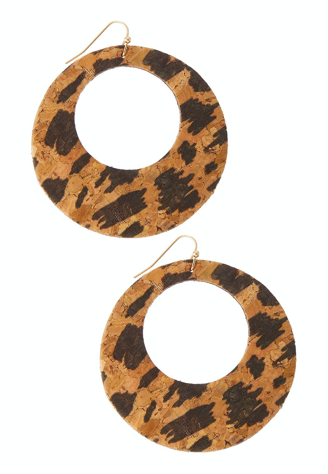 Leopard Cork Earrings