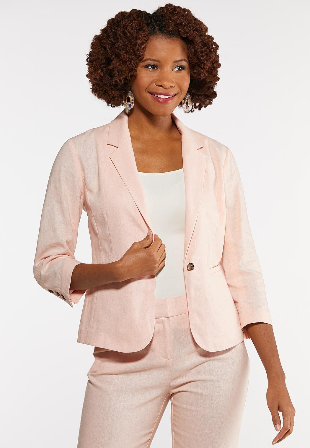 Plus Size Linen Blazer