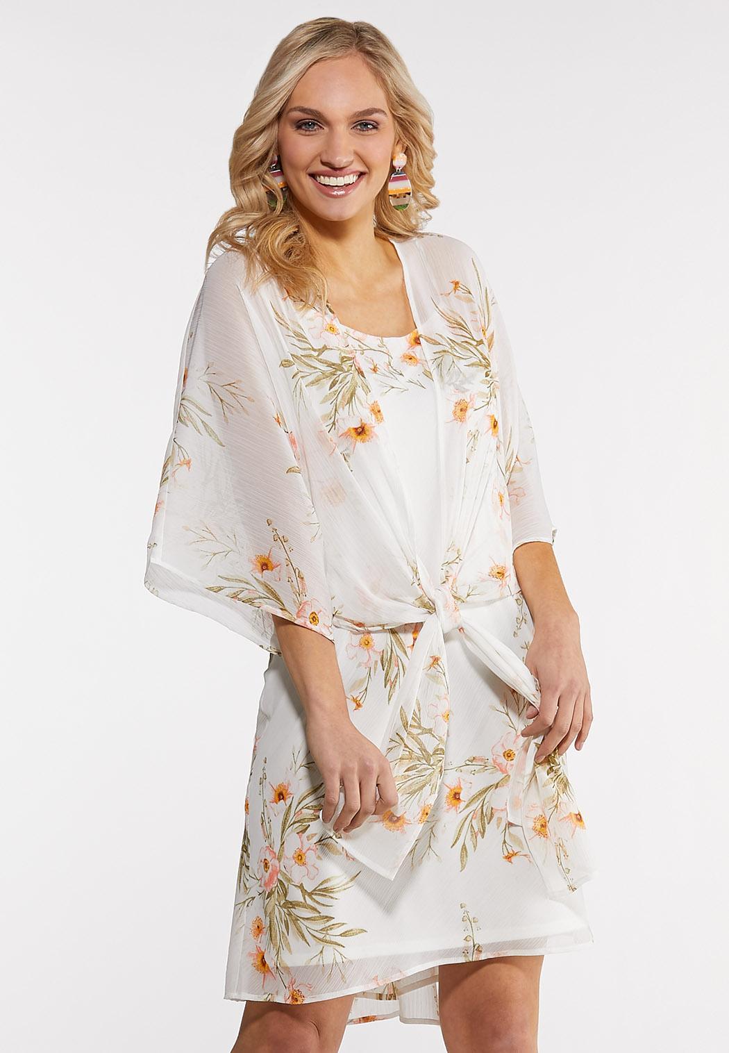 Crepe Kimono Slip Dress