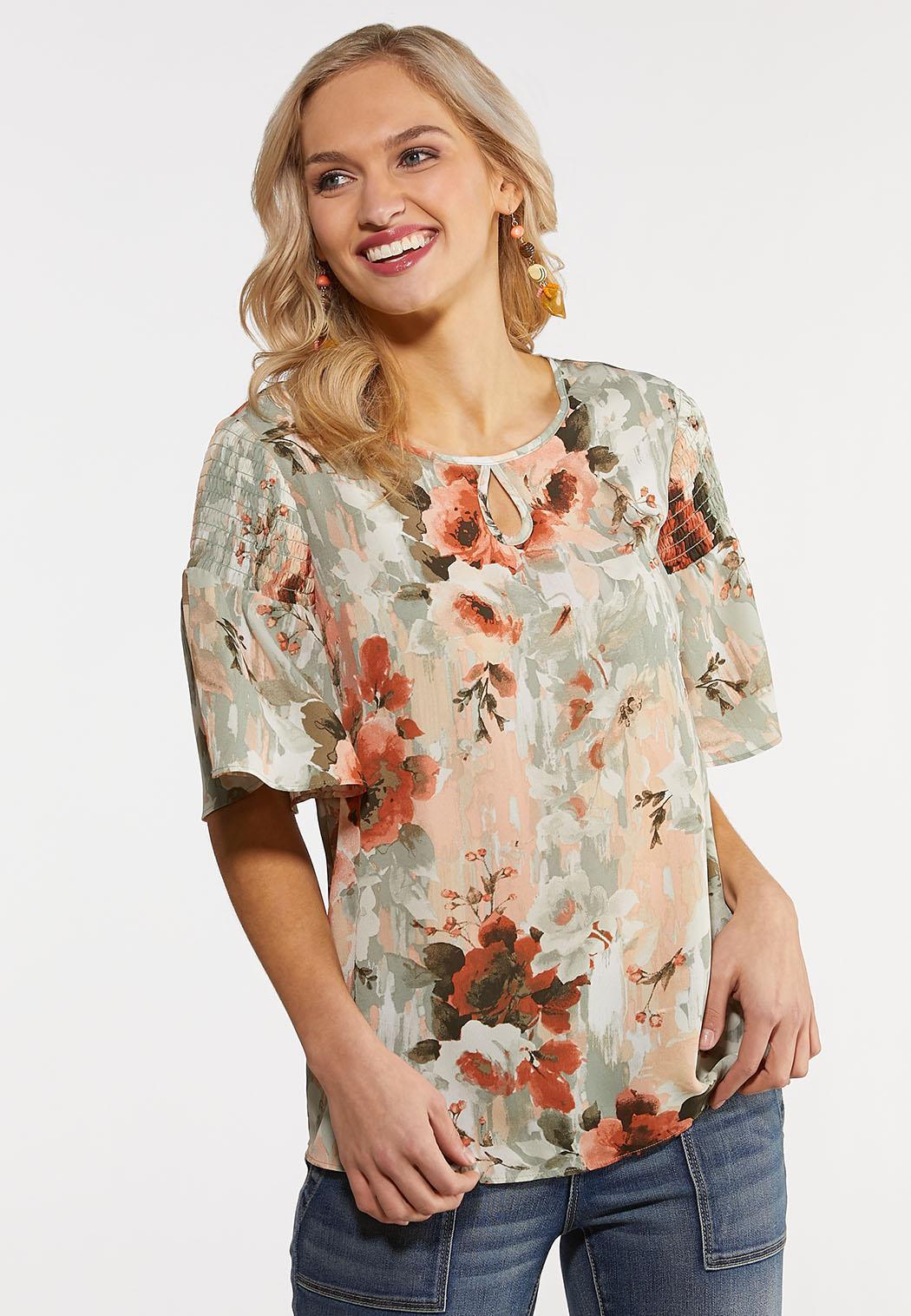 Plus Size Enchanted Floral Top