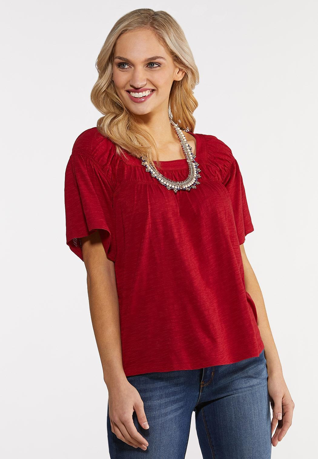Spicy Smocked Top