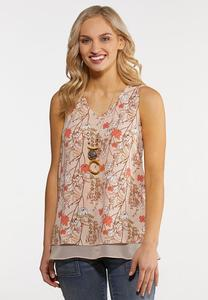 Plus Size Layered Blush Tank