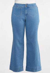 Plus Size Stitched Trouser Jeans