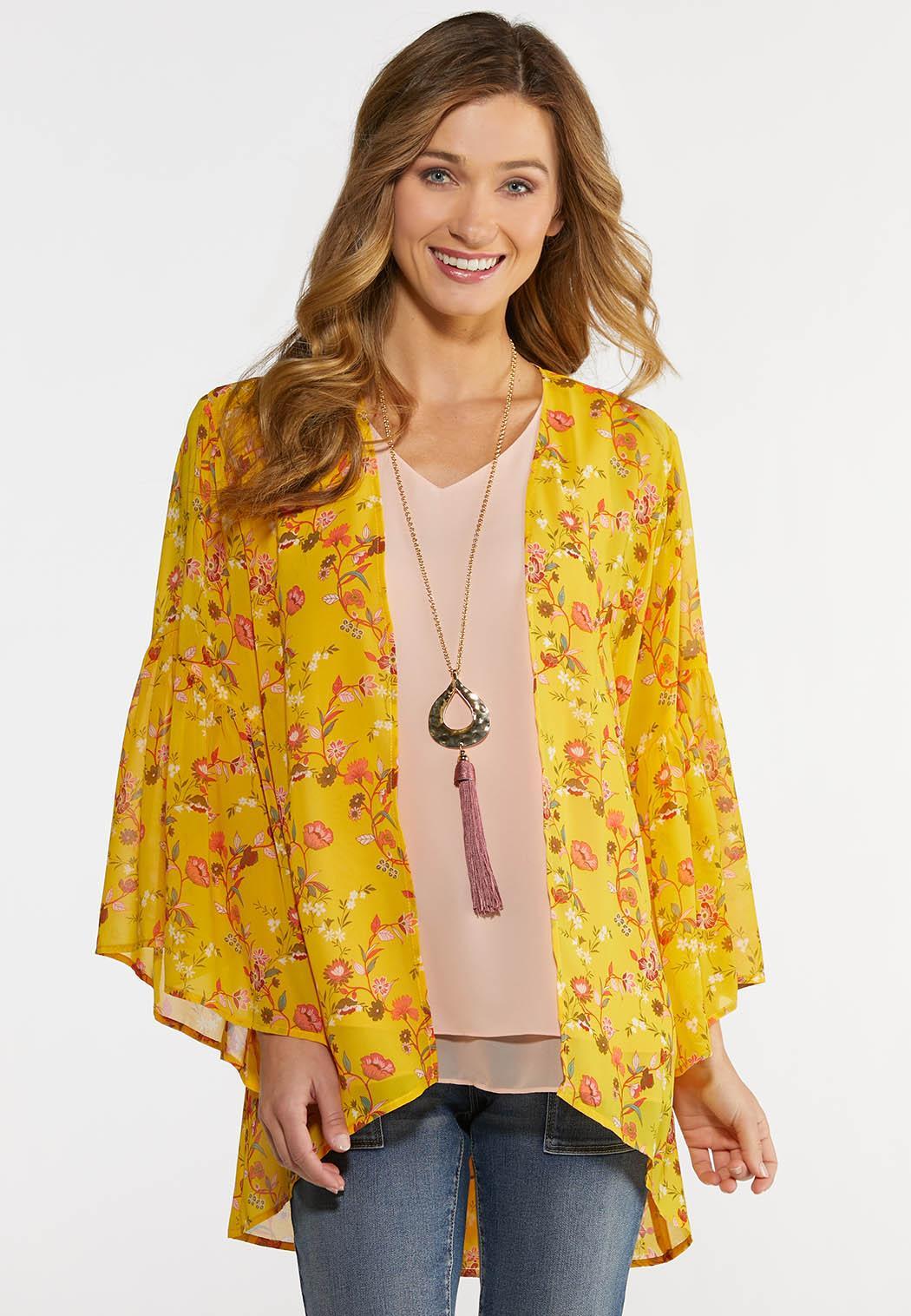 Golden Floral Kimono
