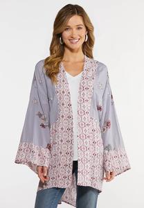 Plus Size Sweet Lavender Kimono